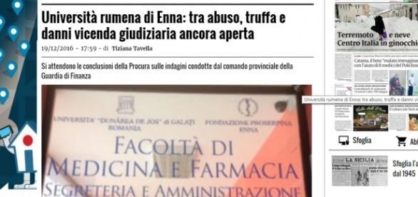 Extensiunea din Enna prinsă în scandalul fraudelor