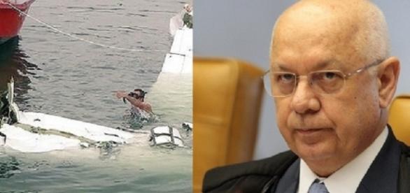 Teori Zavaski sofre acidente de avião