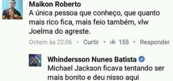 Whindersson Nunes deixa fãs de Michael Jackson chateados.