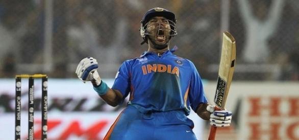 Yuvraj Singh in IND vs ENG 2nd ODI match (Image credits: Twitter.com/rajeventsindia)