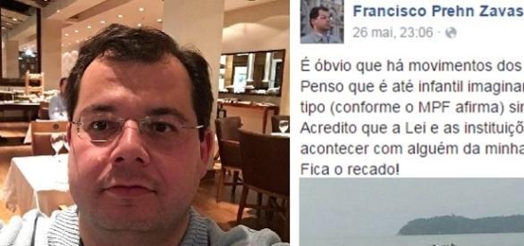 Francisco Zavascki falou sobre ameaças ao pai antes da queda do avião.