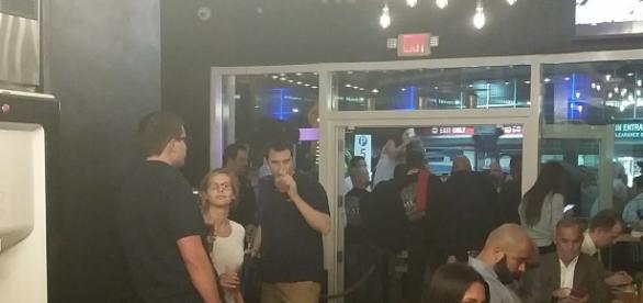 Lots of activity at the Grand Opening of Pincho Factory on 1250 S.Miami avenue, photo credit: Eric L. Labrador, camera phone