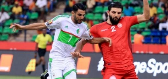 match Algérie Tunisie en coupe d'Afrique 2017