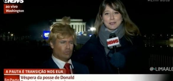 Vesgo do Pânico durante entrevista a Globo News