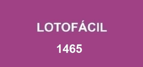 Anúncio do resultado da Lotofácil 1465