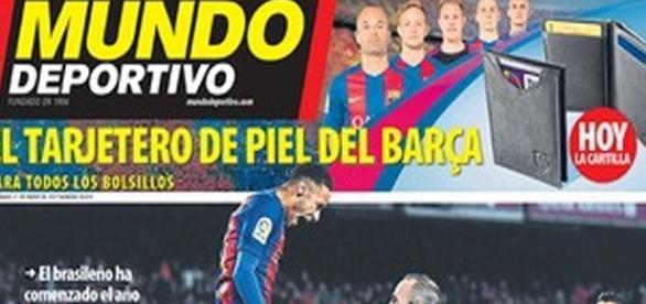 """Reprodução do jornal """"Mundo Deportivo"""", da Espanha"""