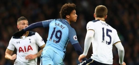 Leroy Sané (Manchester City) e Eric Dier (Tottenham Hotspur) fizeram uma grande partida no Etihad Stadium.