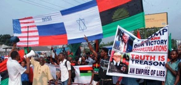 Les Biafrais de Port Harcourt (sud du Nigéria) ont manifesté pour Donald Trump et surtout l'indépendance