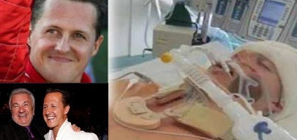 Imagens do piloto de F1 Michael Schumacher.