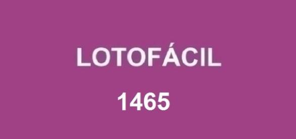 Divulgado o resultado da Lotofácil 1465