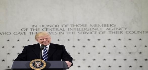 Novo presidente dos Estados Unidos, Donald Trump discursou na sede da CIA.