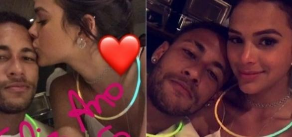 O jovem casal já não esconde a relação
