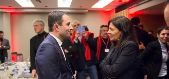 Benoit Hamon et Anne Hidalgo -