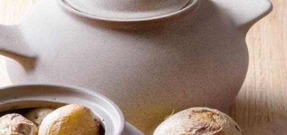 Cuocipatate e cuocicastagne in argilla porosa