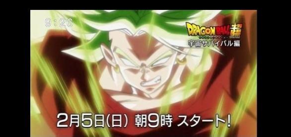 El nuevo personaje transformado en super saiyajin