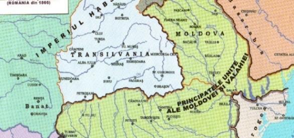 Harta Principatelor Române Unite