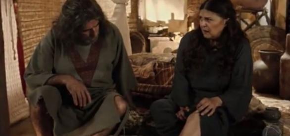 Orias e Milah em 'A Terra Prometida' (Divulgação/Record)