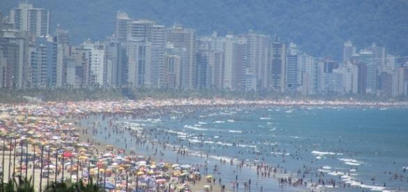 Praia Grande, SP, numa tarde de verão
