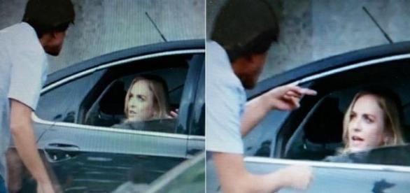 Angélica leva bronca de taxista. (foto: reprodução TV Globo)