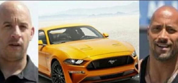 Dwayne Johnson recebeu a heroína de guerra na promoção do Mustang