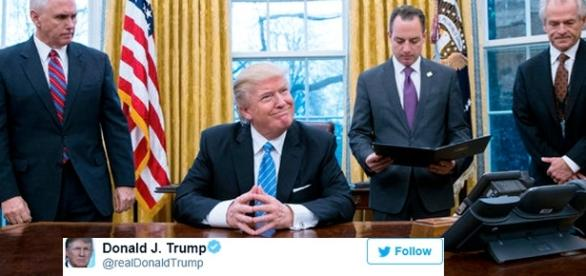 Donald Trump a utilisé son compte Twitter personnel pour annoncer un ''grand jour pour la sécurité''
