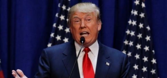 Donald Trump em um de seus discursos eleitorais