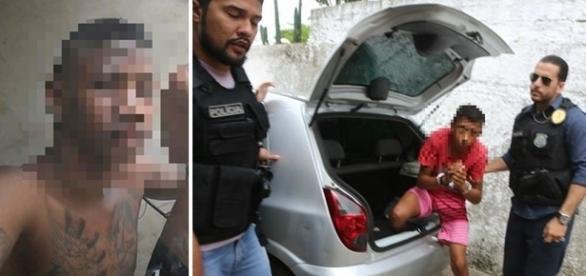 Imagem do menor que confessou ter matado o taxista.