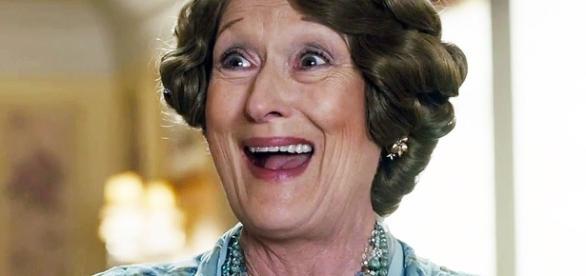 Meryl Streep interpretando a Florence Foster Jenkins, papel que le dio la nominación número 20 a los Oscar
