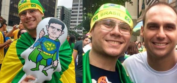 Smith Hays nas manifestações pré-impeachment de Dilma Roussef