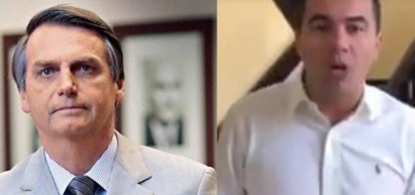 """""""Teremos um Trump no Brasil?"""", questionou Bolsonaro ao postar vídeo de Luis Miranda (à direita)"""