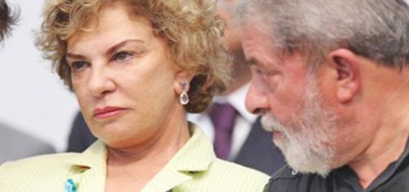 Ex-primeira-dama Marisa Letícia e o seu esposo, o ex-presidente Lula
