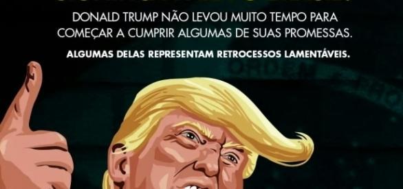 Foto que o PSDB postou no Facebook para divulgar a carta sobre Trump