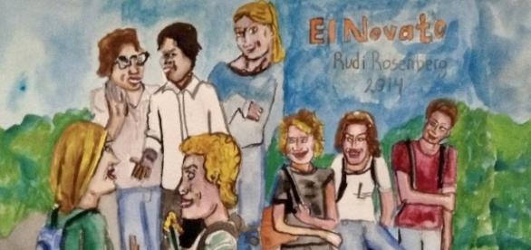 Ilustración a partir de El Novato, película en competencia de MFFF