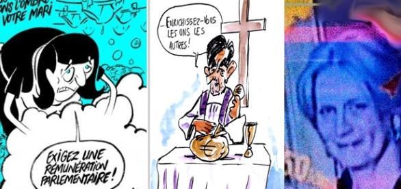 Les caricaturistes peinent encore un peu à traiter le Penelopegate, mais Charlie (à g.) réagit déjà