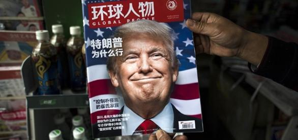 Donald Trump en tapa de revista china