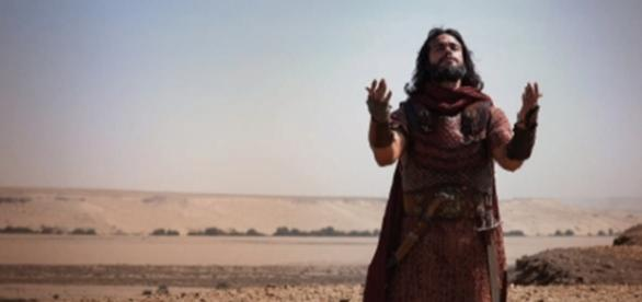 Josué em 'A Terra Prometida' (Divulgação/Record)