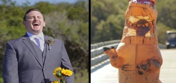 Noiva resolveu inovar em seu casamento