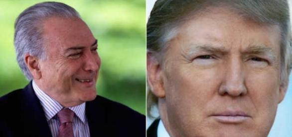 Temer pretende fazer parceria com Trump (Foto: Catraca Livre)