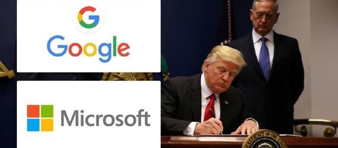 Google y Microsoft se ven afectados por el gobierno de Trump