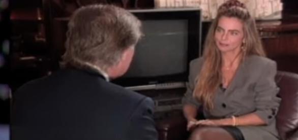 Em meados de 1990, Donald Trump concedeu uma entrevista a Bruna Lombardi