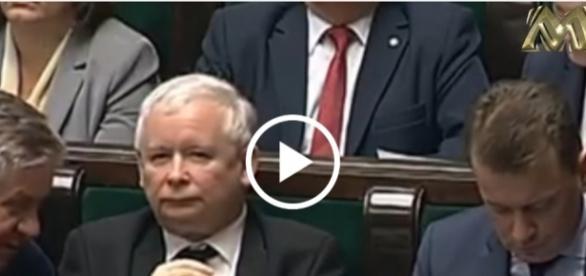 Jarosław Kaczyński zareagował śmiechem na słowa posłanki Wielgus.