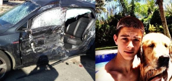 Filho de Bonner se envolve em acidente de carro