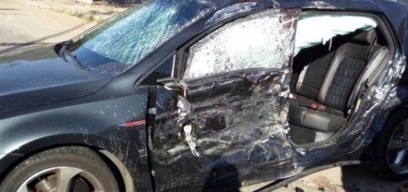 Filho de Fátima Bernardes e Bonners sofreu acidente de carro (Foto: Folha Dos Lagos