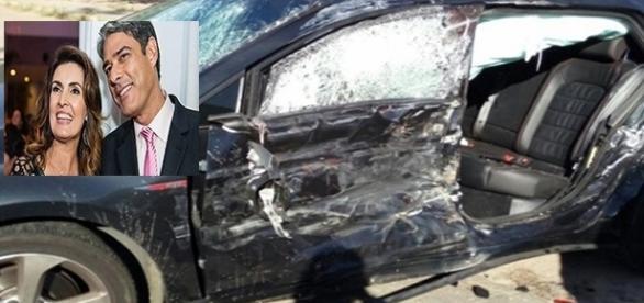 Filho de William Bonner e Fátima Bernardes se envolve em grave acidente