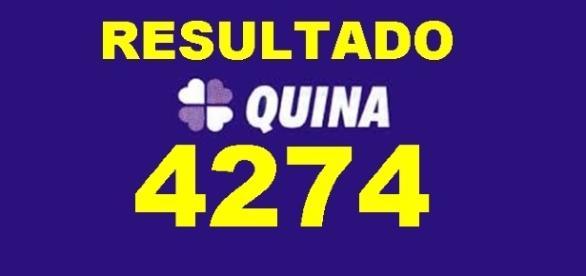 Resultado do jogo da Quina 4274