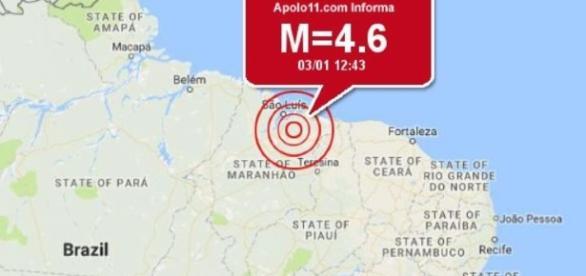 Terremoto atingiu cidade do Maranhão.