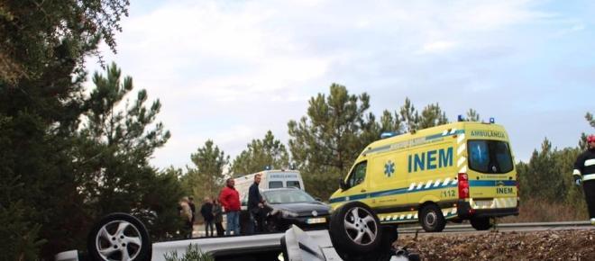 Marinha Grande: Despiste aparatoso provoca dois feridos