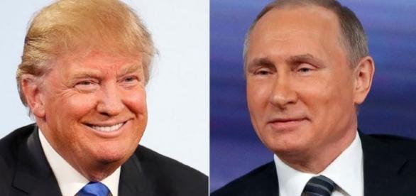Donald Trmp e Vladimir Putin (Via: Julio Severo)