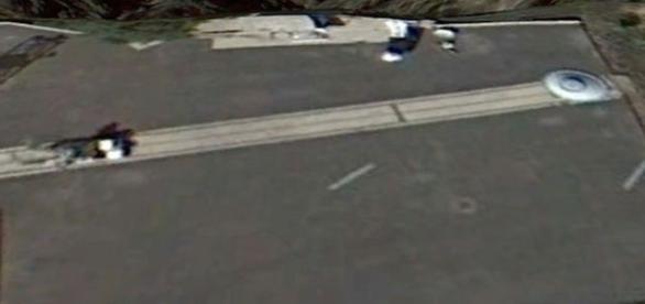 Alegado UFO repercute entre os entusiastas da vida alienígena (Google Earth)