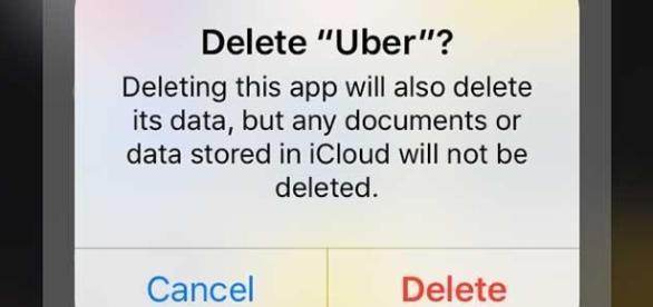 Con el #DeleteUber cientos de tuiteros invitaron el sábado a eliminar la aplicación